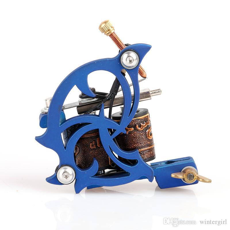 Metralhadora giratória colorida para a máquina delicada da arma de motor da tatuagem do ferro fundido da máscara com de alta qualidade