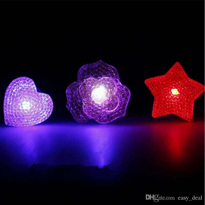 Cartoon LED Flashing Light Up Glowing Finger Ring Electronic Christmas Halloween Baby Fun Toys Gifts for Children F20172644