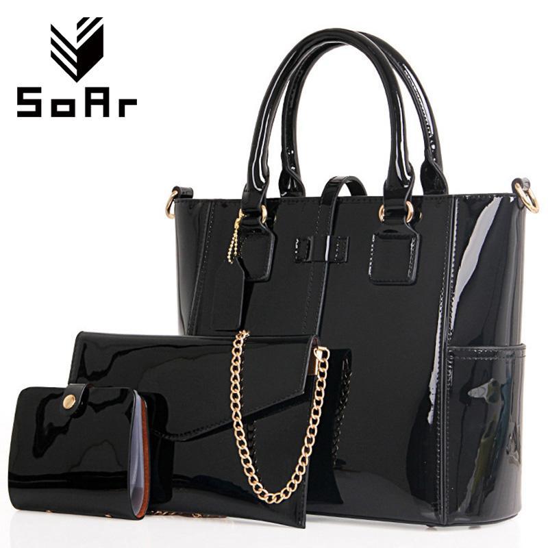 f29776ff25a Wholesale- SoAr Women Handbag Luxury Leather 2017 Women Bag Famous ...