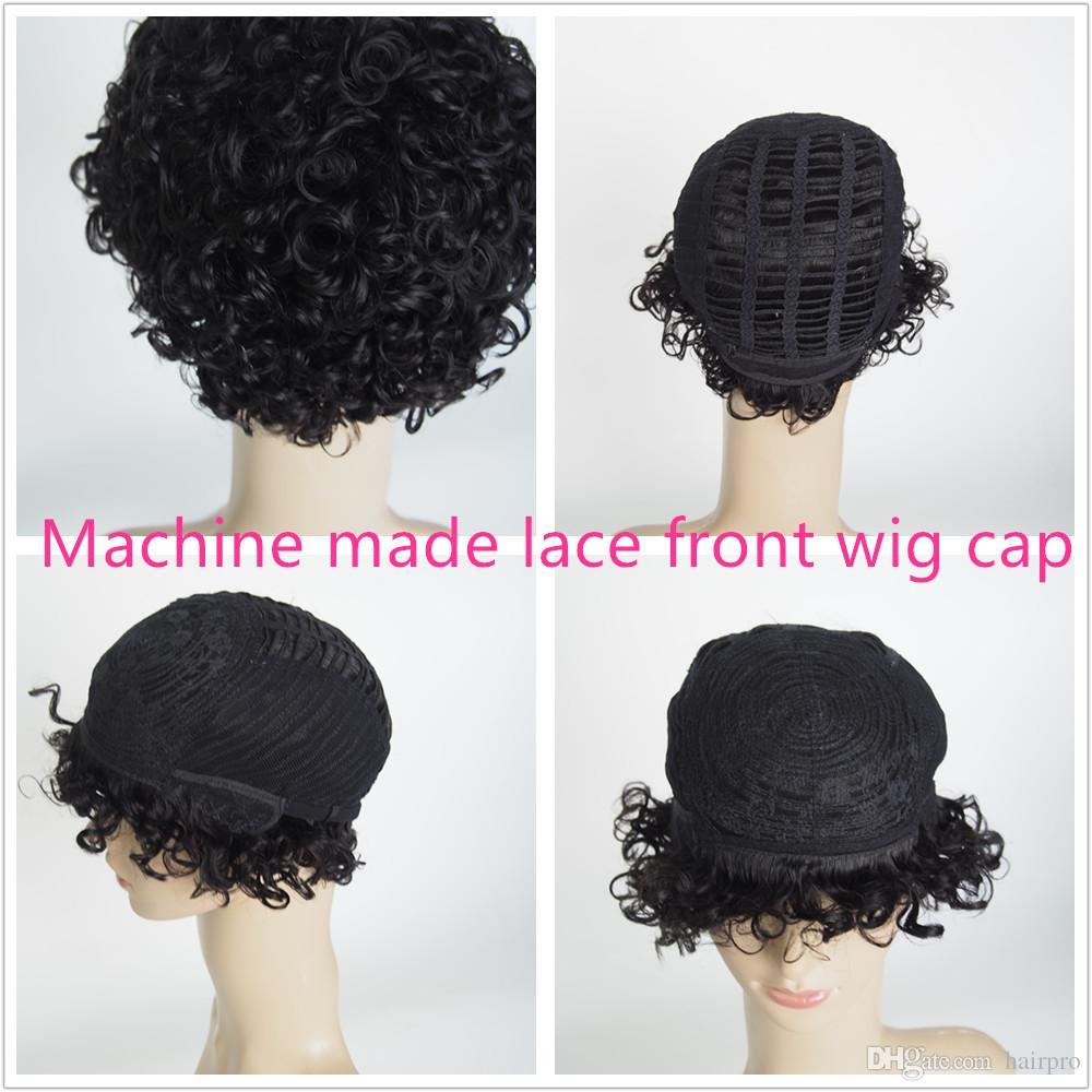 Parrucca anteriore del merletto riccia umana super corteccia parrucca a buon mercato parrucca naturale a buon mercato