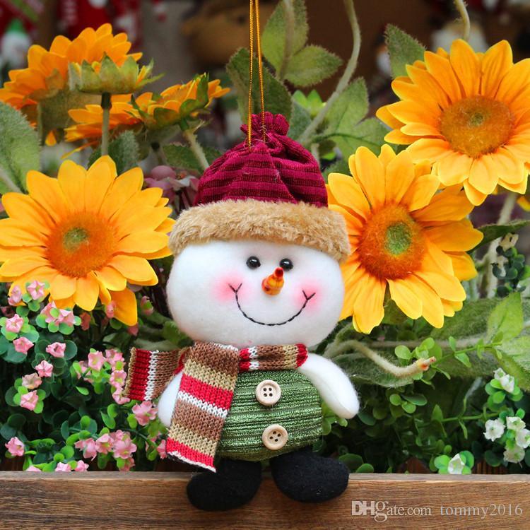 Noel süslemeleri yaratıcı Noel Baba kar geyik kolye Noel süslemeleri hediyeler çocuk oyuncakları