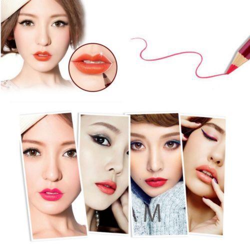 Nuevo Sexy Impermeable Lápiz Labial Lápiz Labial Lápiz Labial Maquillaje de larga duración Brillo mate Duradero 24 Horas Delineador de ojos Herramientas de belleza es diferentes