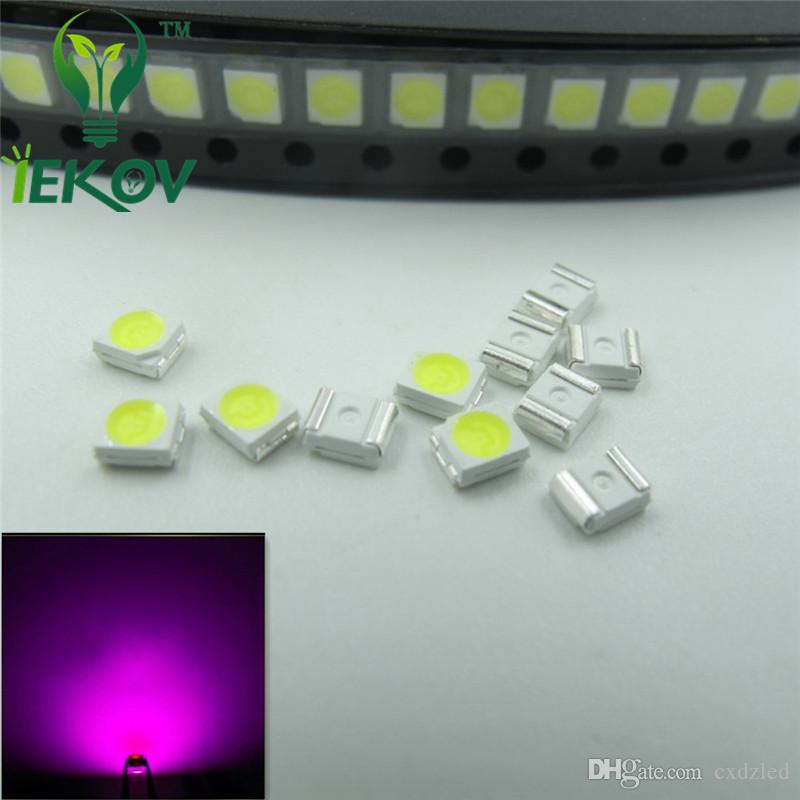 PLCC-2 Pink LED 1210 3528 SMD Ultra Bright Light Emitting diodes 3.0-3.2V 900-1100mcd SMD/SMT Chip lamp beads Wholesale