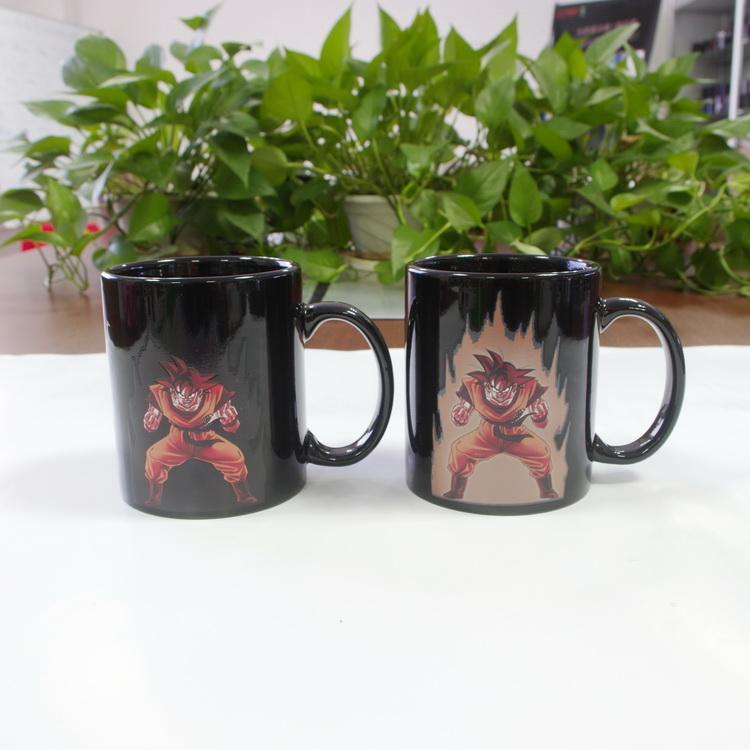 DHL shipping free Best gift Dragon ball wukong ceramic heat sensitive color changing coffee mug tea cups