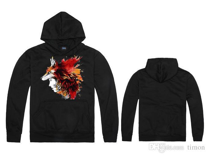 2017 جديد أزياء الثعلب الرجال هوديس الخريف الشتاء هوديي الرجال الصوف عالية الجودة الرجال سوياتشيرتس الرجال الرياضية s-2xl