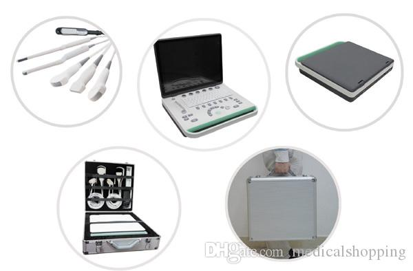 Digital 15 inch LCD notebook Vet Ultrasound scanner machines with bulit in battery ,laptop animal body scanner