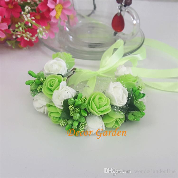 Mariage Fleur Romantique Poignet De Mariée Corsage Guirlandes Pour Enfants Nouvelle Mousse Fruits Demoiselle D'honneur Fleurs De Mariage Artificielles Bridal Wrist Corsage