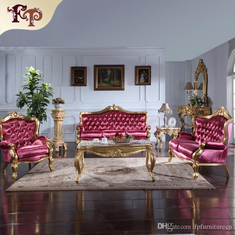 Acheter mobilier de salon classique italien ensemble - Muebles italianos clasicos ...