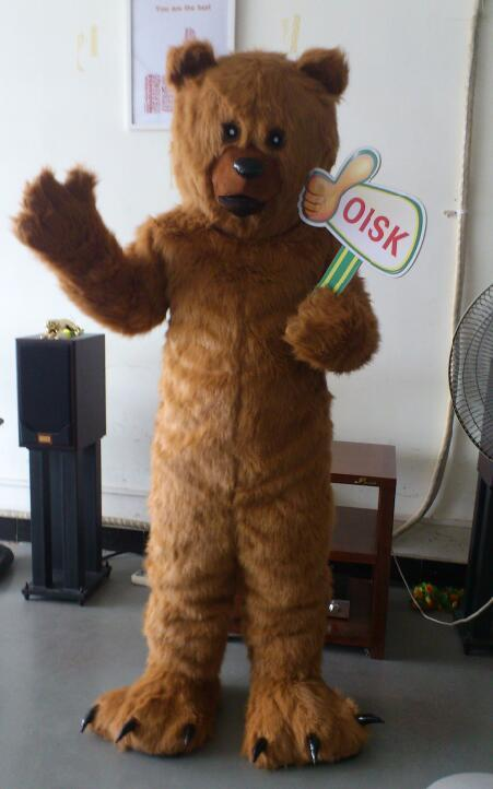 Prefesstion Big Grizzly Brown Bear Ursus Arctos Mascot Costume Party Suit Adult Size Halloween Outfit Mascot Outfits For Sale Costumes Mascots From Hkgift ... & Prefesstion Big Grizzly Brown Bear Ursus Arctos Mascot Costume Party ...