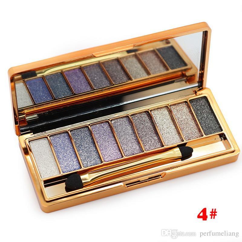 Professional Diamond Bright Colorful Makeup Eye Shadow Super Make Up Set Flash Glitter Eye shadow Palette With Brush WB0250