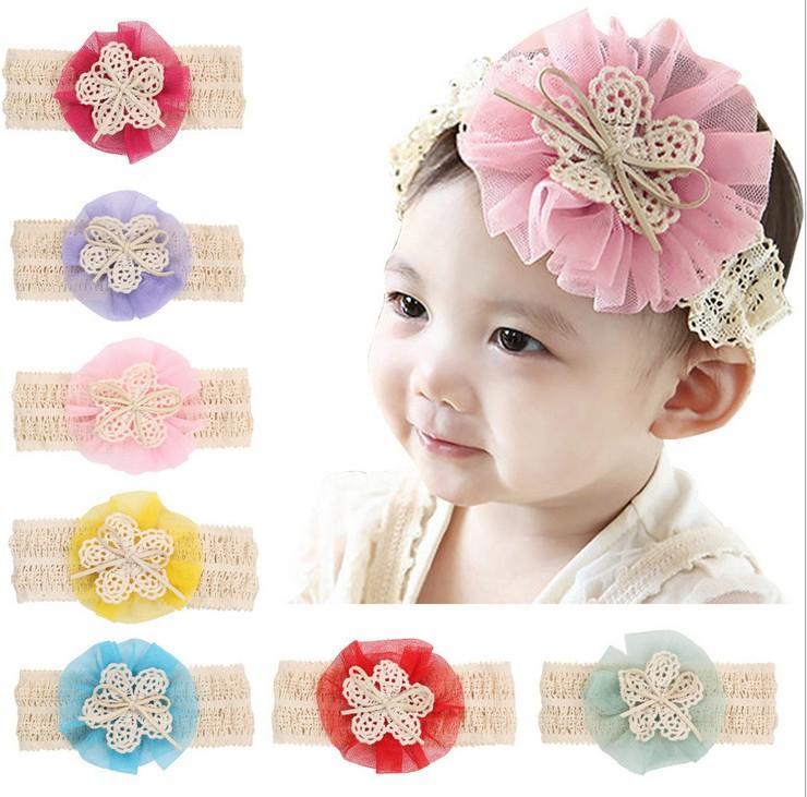 Großhandel Fantastisches Nettes Baby Blumen Stirnband Oberseite Baby ...
