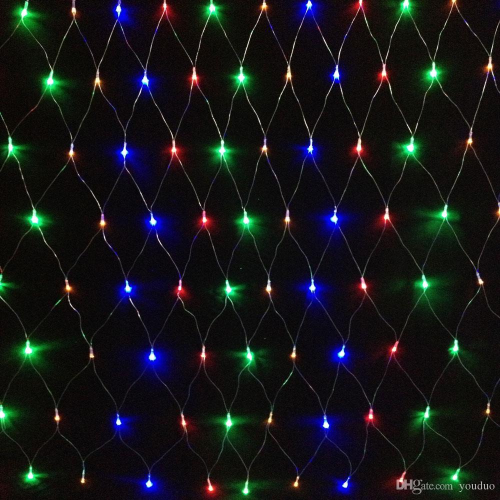 Led String 1 5 X 1 5 96leds Net Lights 8modes Xmas Party Wedding
