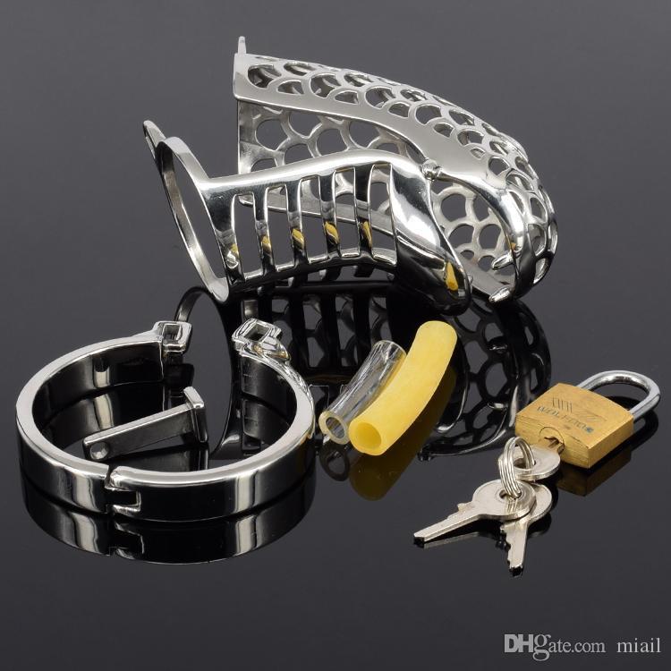 뱀 모양의 순결 장치 금속 순결 스테인레스 스틸 수탉 케이지 순결 벨트 수탉 링 BDSM 장난감 반디 섹스 제품