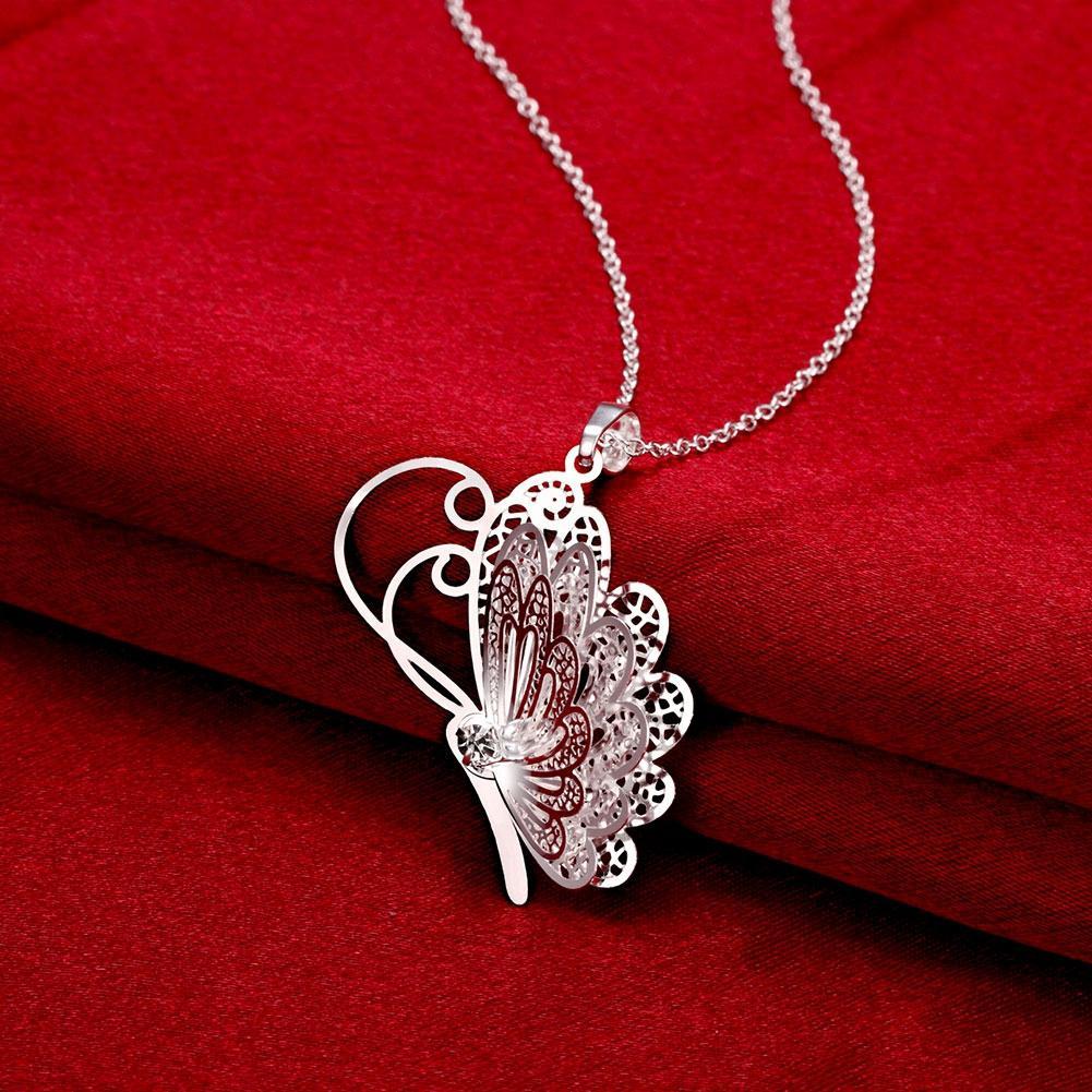 Красивые Маленькие бабочки животные подвески шарм Ожерелья-чокеры цепи 925 чистого серебра n753 подарки Рождество Хэллоуин 2016 Новые украшения