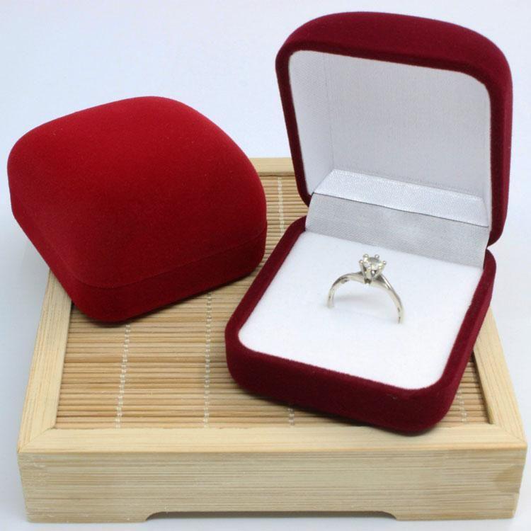 2018 Hot Velvet Bride Bridegrooms Ring Box Jewelry Packaging