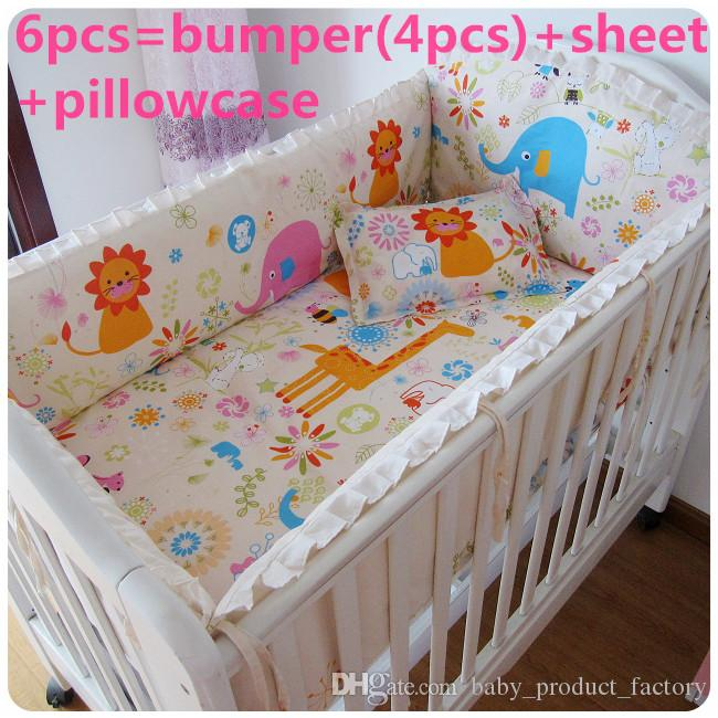 Promotion! Strawberry girl,Baby Cot Crib Bedding set Baby Sheet Crib Bumpers bumpers+sheet+pillow cover