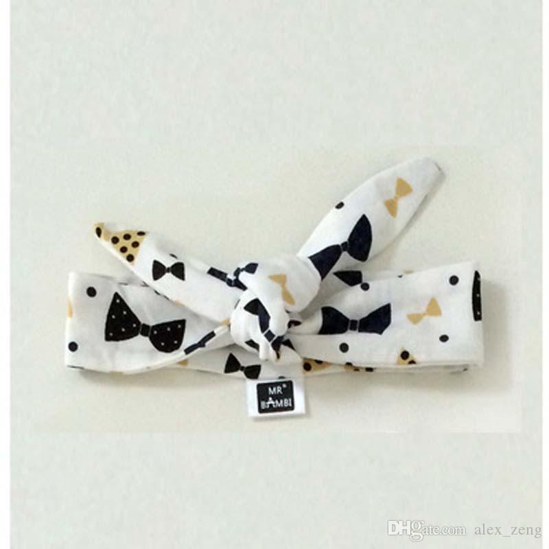 i 2016 Accessori Nuovi INS bambini Knitting Papillon Bandane neonata del cotone dei capelli fasce di trasporto