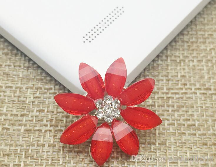 Rhinestone Crystal Daisy Flower Beads Button Flatback For Scrapbooking Craft DIY Hair Clip Accessories