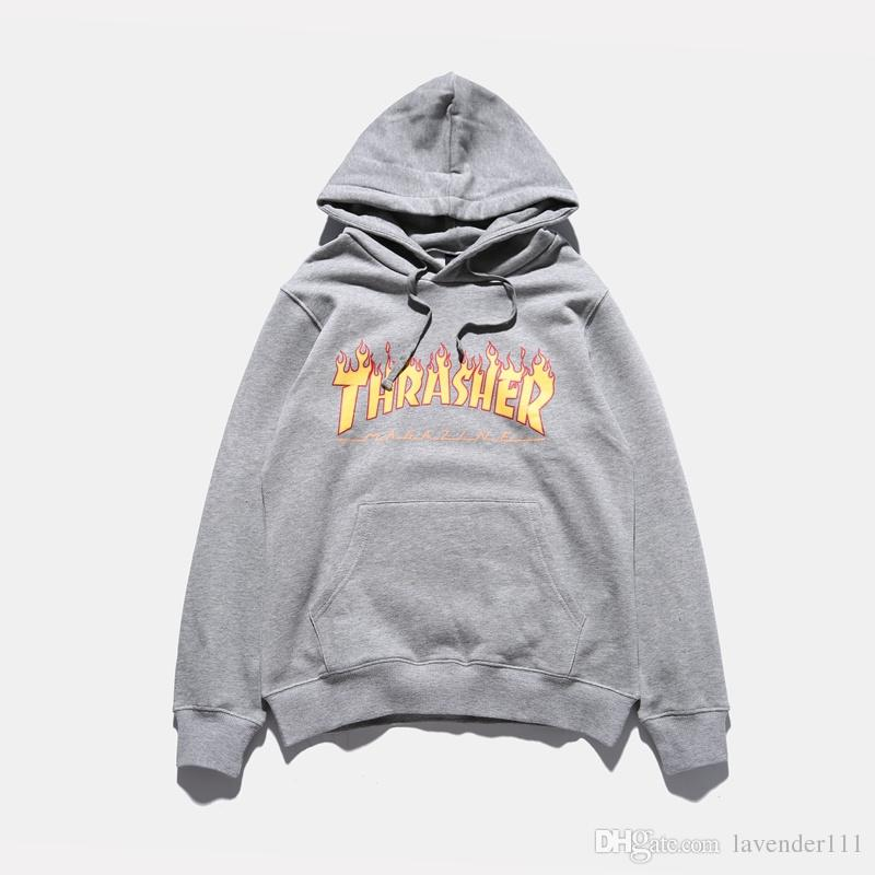 998b03bff3b5 Thrasher Hoodie Sweatshirts Men Hip Hop Cotton Flame Letter Pullover  Skateboards Thrasher Pink Couple Hoodie Coats Online with  38.86 Piece on  Lavender111 s ...