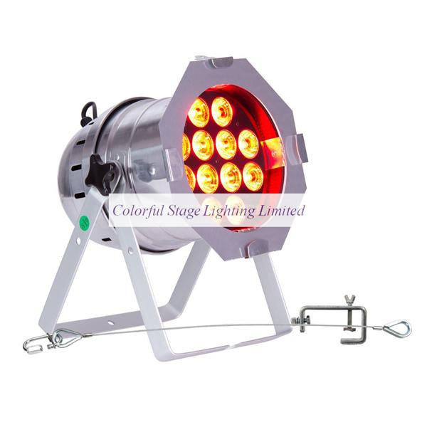 Free shipping 6 Lights High quality 12x18W RGBAW UV 6in1 SET COMPLETE PAR 64 POLISH PAR Light with Flight case