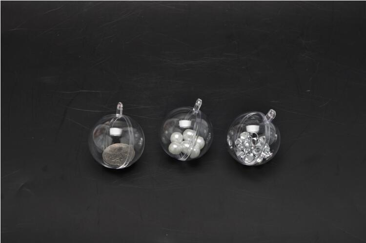 Christmas Decorations balls openable Transparent Plastic Christmas tree Ornament Party Holliday clear balls high quality 4 cm
