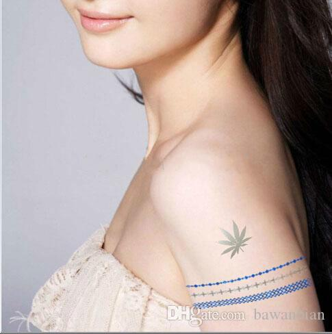 New Fashion Indian Style Blue Gold Colorful Tattoos Inspired Designs Temporary Flash Tattoo Stickers Body art Flush Tatoo Supply