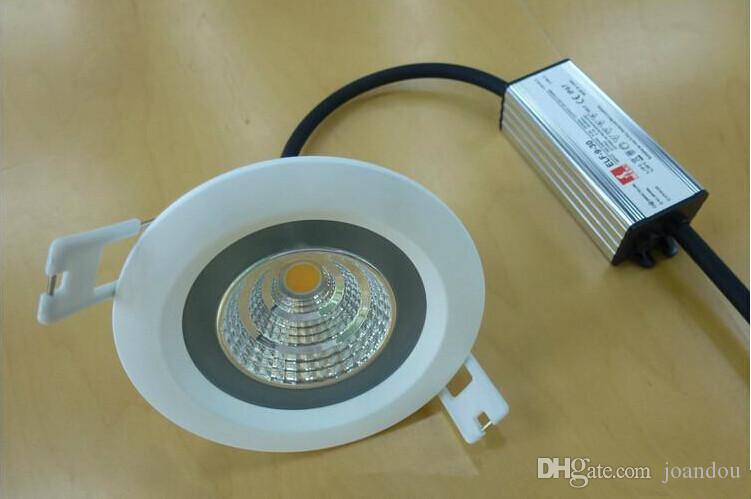 15W/12W Waterproof IP65 COB Recessed led down light,cob downlight +waterproof Driver AC85-265V Warm White/Pure White/Cold White