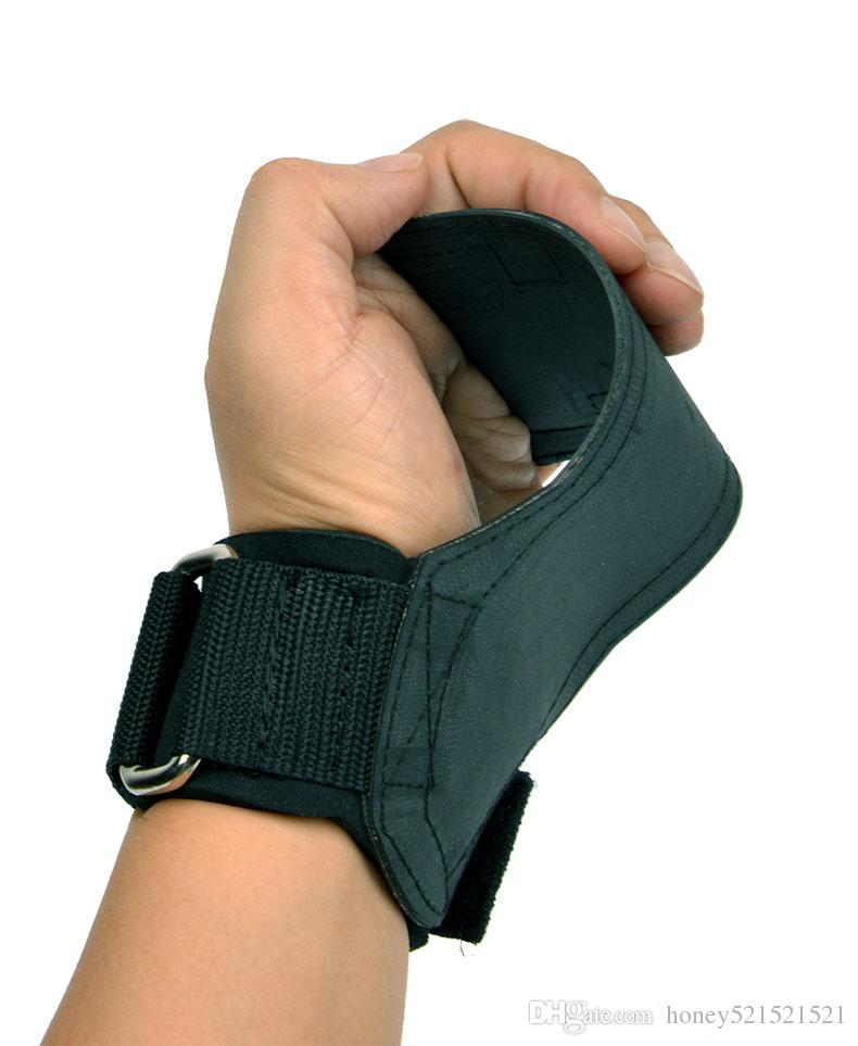 남자의 여성 스포츠 체육관 전문 팜 손목 보호 도움말 붕대 패드 강도 훈련 장비를 당기는 스트랩을 들고 들고