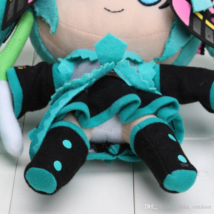 crianças 24CM Stuffed suave Dolls presente das crianças Anime Hatsune Miku Series VOCALOID Neve Hatsune Miku pelúcia para crianças brinquedo de pelúcia