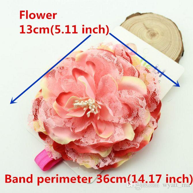Heiß ! Baby-Kind-reizende Rosen-Perlen-Haar-Bänder Vintage Blumen-Haar-Zusätze Recht Stirnband Baby Stirnband 6 Farbe