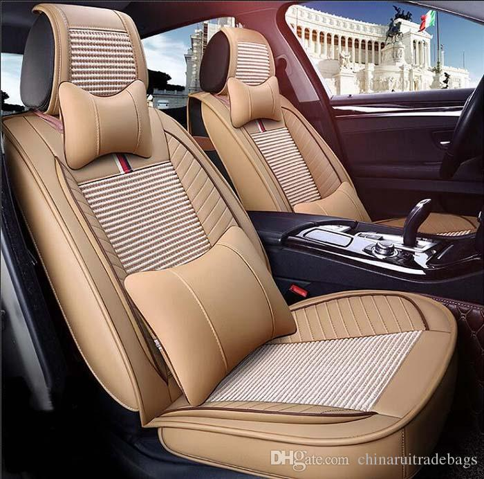 Auto Car Seat Cover Full Sets Universal Fit 5 Seat SUV Sedans Front