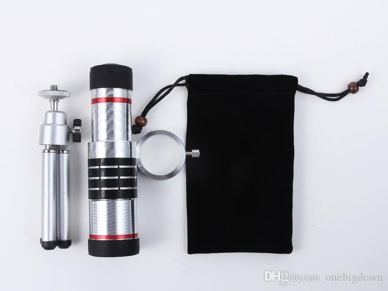 DHL free Universal Cellphone mobile phone 18x Camera Zoom optical Telescope telephoto Lens For Samsung note 2 3 4 5 galaxy
