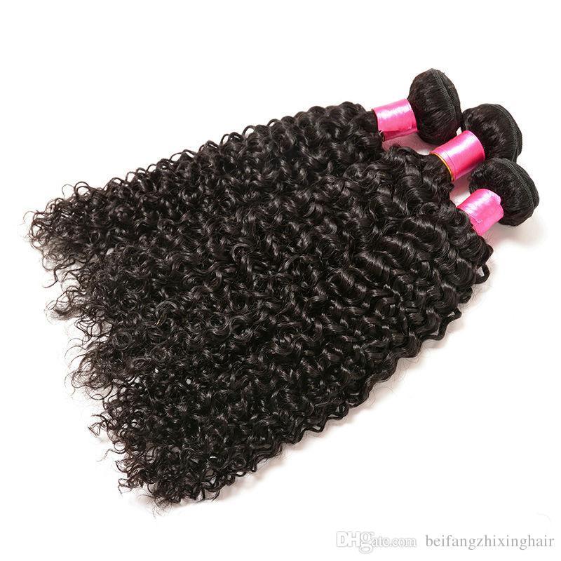 Brésilien crépus bouclés vague Grade 7A cheveux non transformés péruvien malaisien indien mongol crépu bouclés faisceaux de tissage de cheveux humains extensions