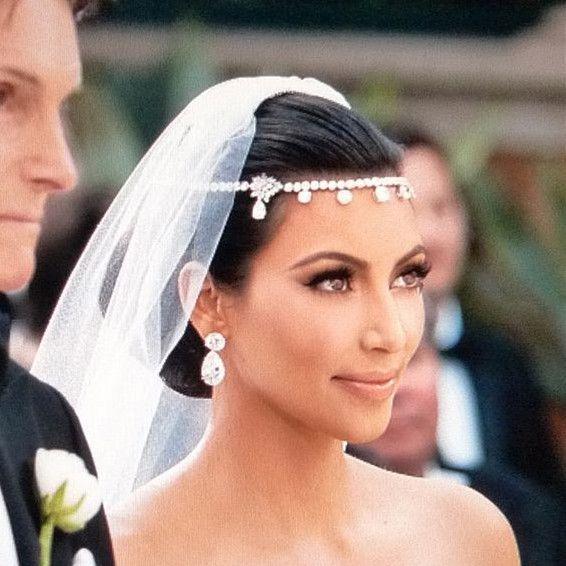 2018 Hot Sell Kim Kardashian Wedding Bride Jewelry Hair