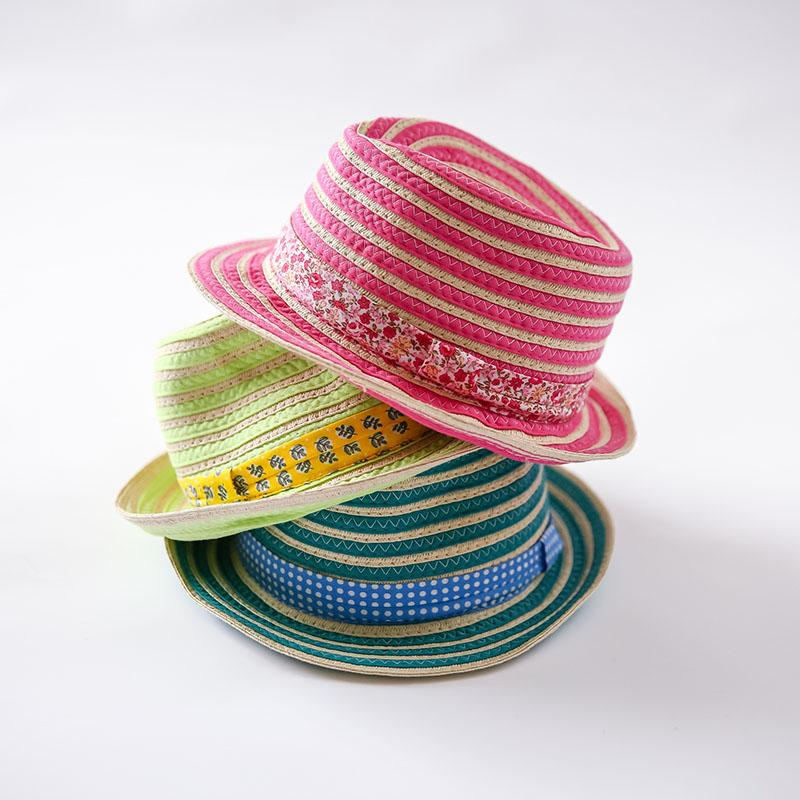 cb69ad3d038 2016 New Muti-colors Child Unisex Straw Hat Sun Cap for Boys Girls ...