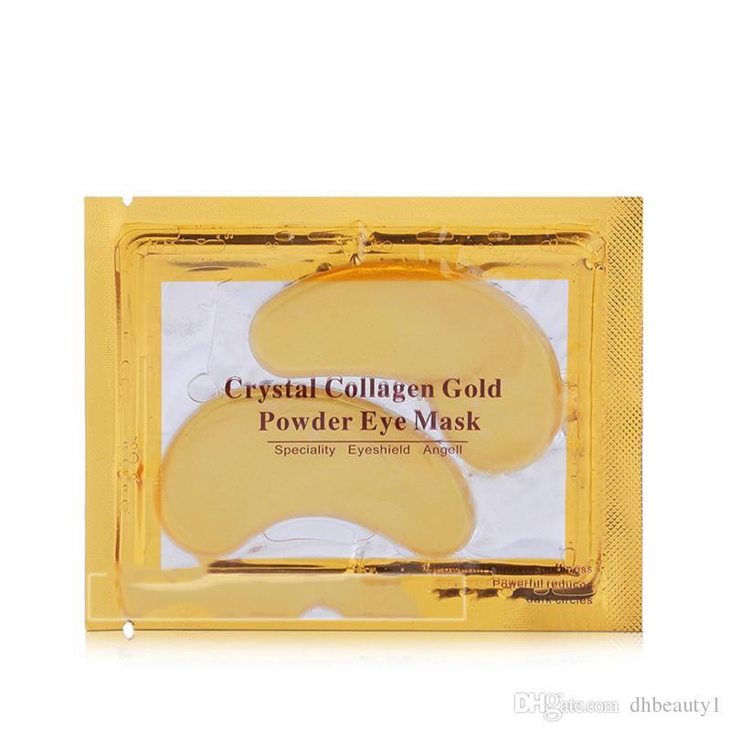 2017 против морщин кристалл коллаген золотой порошок маска для глаз золотая маска придерживаться темных кругов DHL корабль