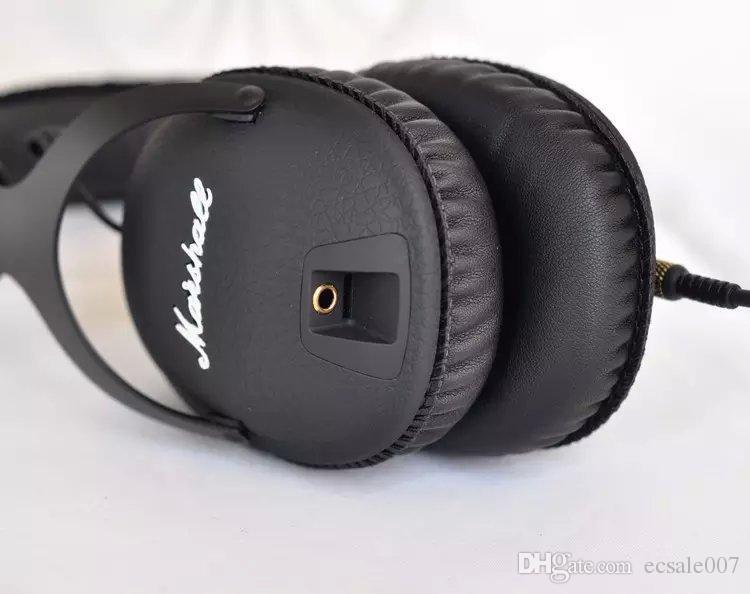 Marshall MONITOR 헤드폰 소음 차단 헤드셋 Deep Bass 스튜디오 모니터 Rock DJ Hi-Fi 기타 락 마이크 이어폰 마이크 포함
