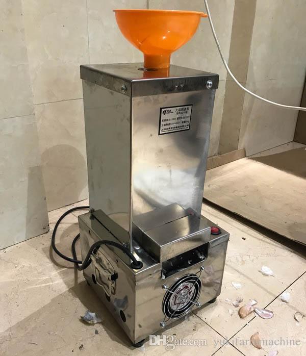 آلة تقشير الثوم التجارية الكهربائية الثوم مقشرة 220 فولت الصغيرة الجافة نوع الثوم مقشرة مناسبة لمطعم الفندق