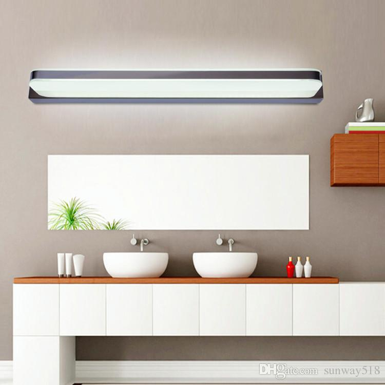 Online cheap new simple bathroom mirror light led bathroom wall lamp online cheap new simple bathroom mirror light led bathroom wall lamp stainless steel lamparas de pared make up waterproof anti fog lamps by sunway168 mozeypictures Gallery