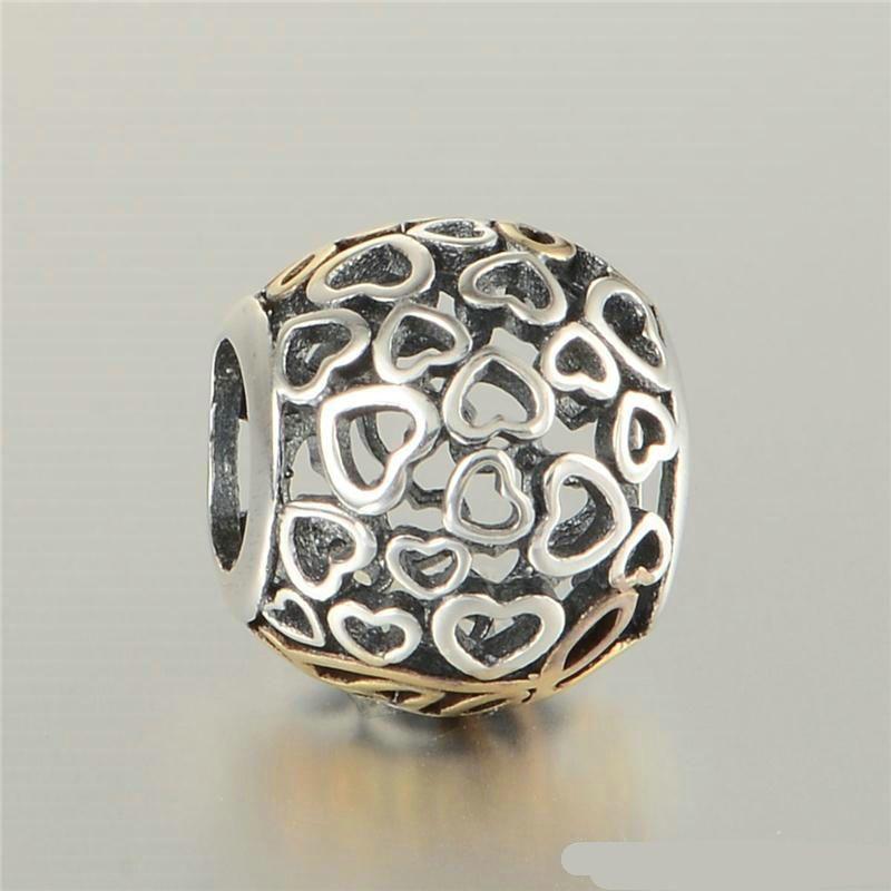 Love Beres Pave Fascino all'ingrosso S925 Sterling Silver Adatti Bracciali originali Charms Charms 791425 H8