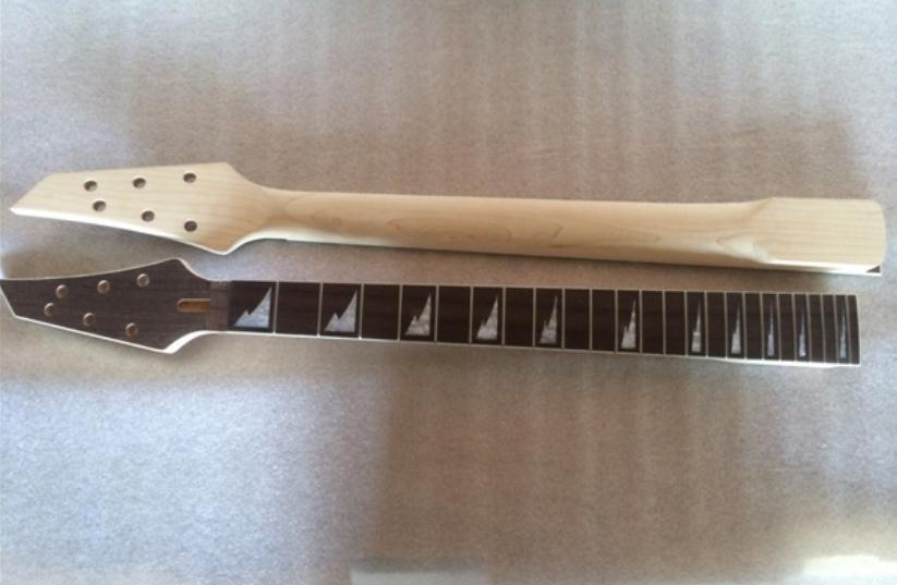 vendite calde 24 tasti aceri strumenti musicali accessori chitarra elettrica collo in palissandro tastiera parti di chitarra