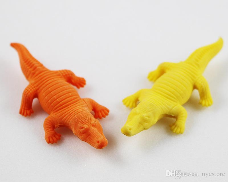 Cartoon Animals Dinosaur Crocodile Pencil Eraser Cute Rubber Correction Erasers Student Stationery School Supplies Kids Gift Promotion