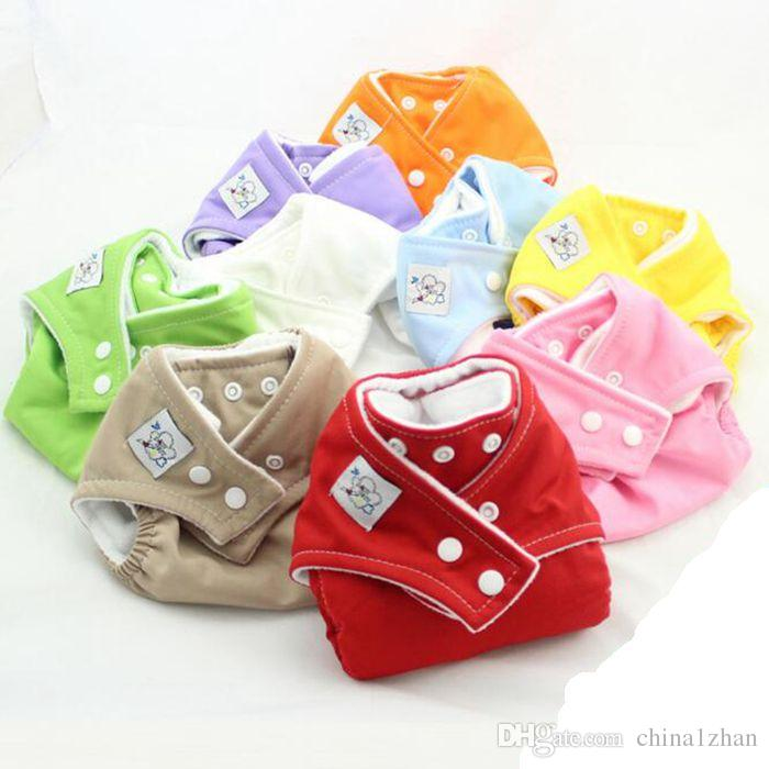 Reusable Diapers Washable Cloth Diaper Adjustable Baby Diaper Colorful Infant Diapering Optional DHL free DHT233