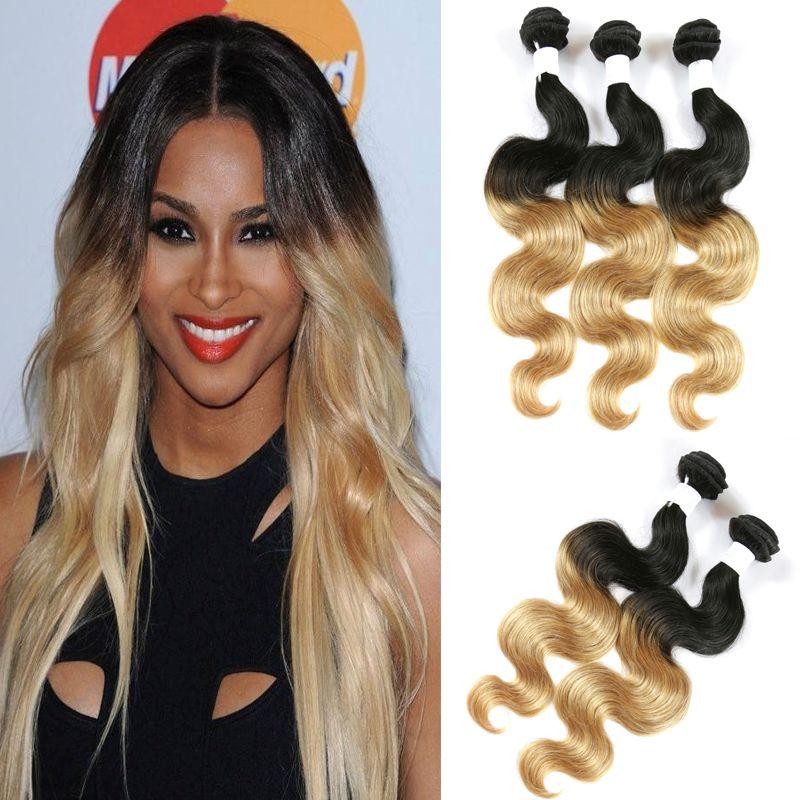 Bellqueen Hair Best Ombre Brazilian Hair Body Wave Colored Brazilian