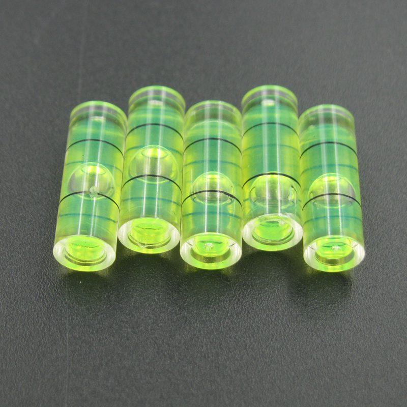 Haccury 25 pezzi / lotto 6.5 * 18 mm Plastic Tube Livello bolla Livello di Livello