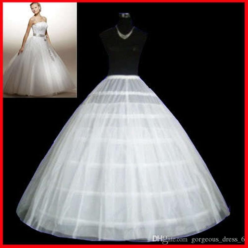 6 Hoops 2 Layer Ball Gown Petticoat Crinoline Slip