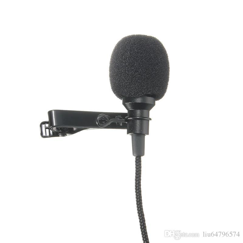 Mini 3.5mm Jack Microphone Lavalier Tie Clip Microphones Microfono Mic For Speaking Speech Lectures 2.4m Long Cable