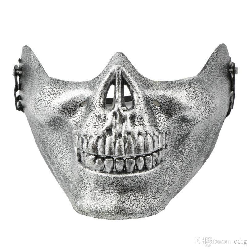 Maschera protettiva del fronte del cranio di scheletro di Airsoft del cranio Halloween