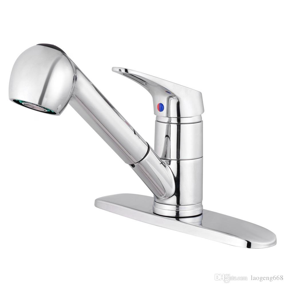 Großhandel Swivel Spout Sink Single Handle Mixer Tap Pull Out Spray ...
