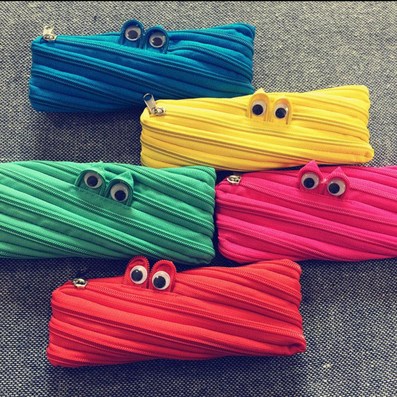 MONSTER Zipper Pouch Cosmetic Bags Makeup Cases Pencil Bag Cartoon Animal Handbag Coin Change Purse Kids Party Christmas Gift